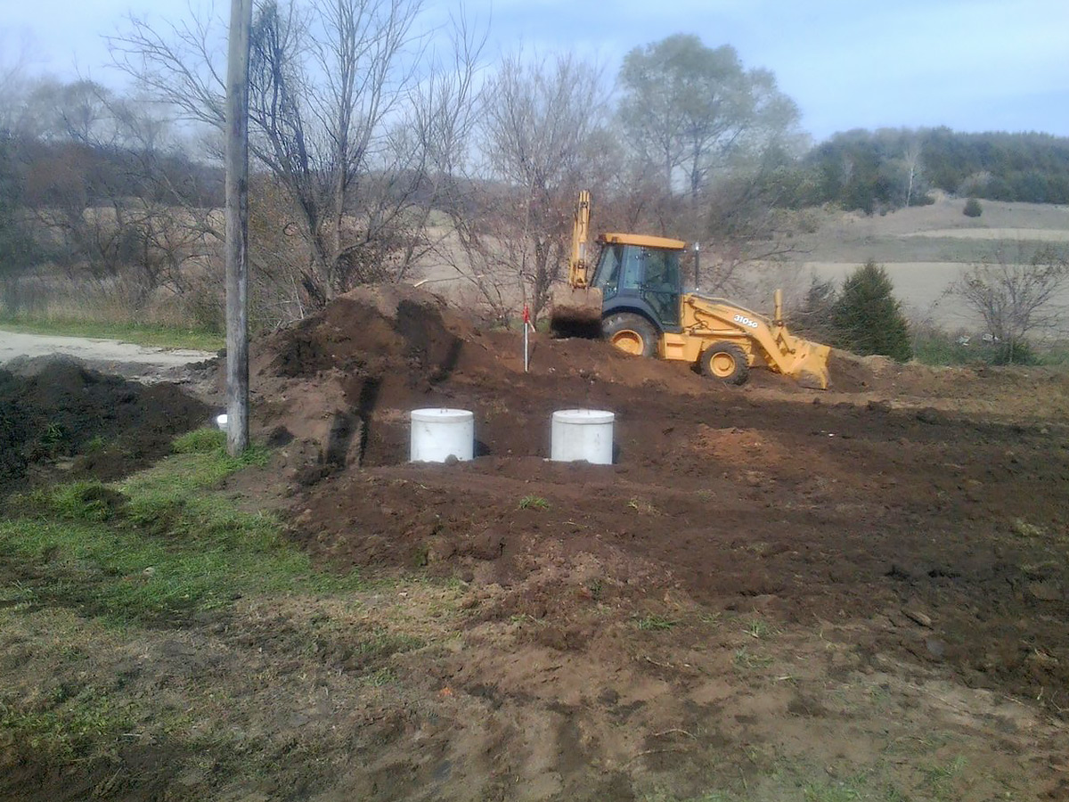 Larson Backhoe Services Septic Installation